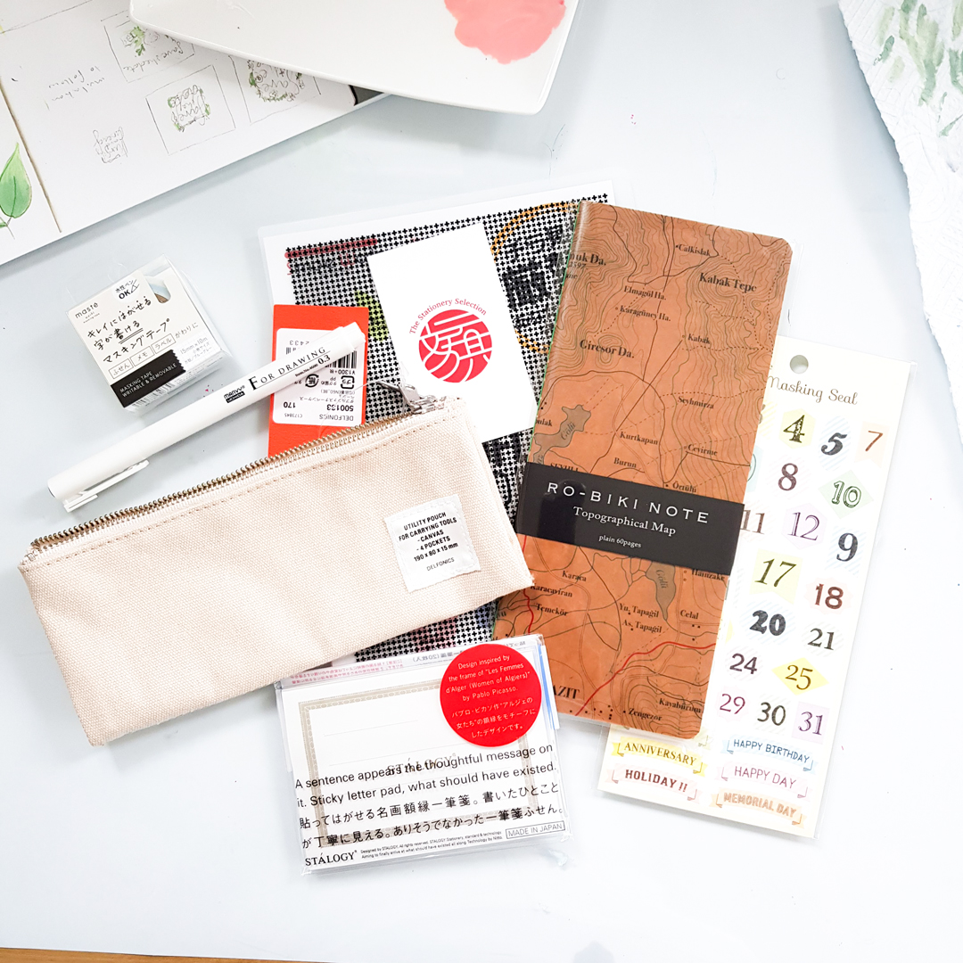 Items in Stationery Selection subscription box
