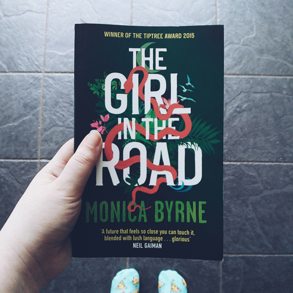 Cover of The Girl In The Road by Monica Byrne.